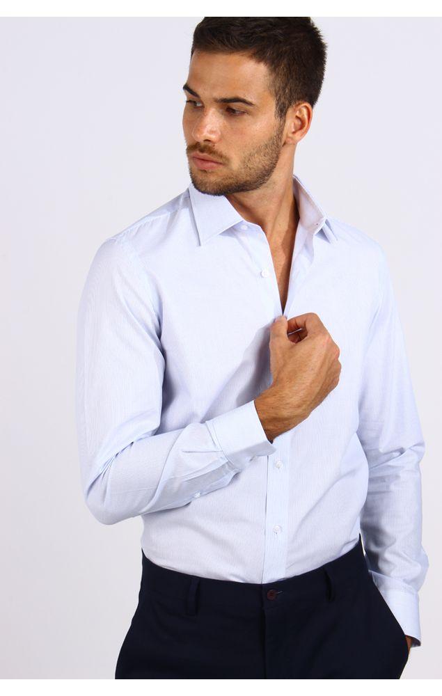 Camisa-Office-Ml-Micro-Listras-Azul-