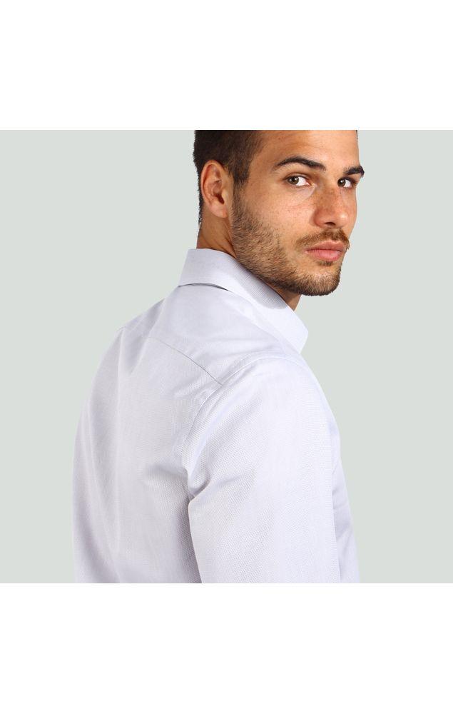 Camisa-Office-Ml-Texturizada-Cinza